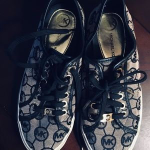 Michael Kors black signature sneakers